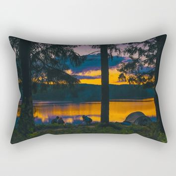 Down By The River Rectangular Pillow by Gallery One