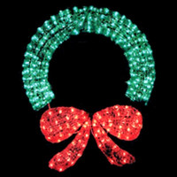 "48"" Lighted Crystal Wreath - Indoor / Outdoor Lighted Decorations - 400 Lights"