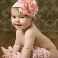 Pink Baby Lace Leg Warmers Photo Prop - CPR054