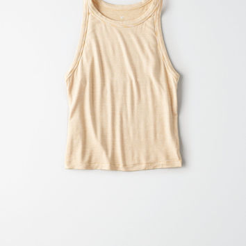AE Soft & Sexy High Neck Tank Top, Yellow