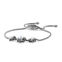 Starburst Three-Station Bracelet with Pearls - David Yurman