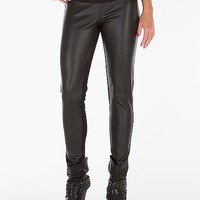 Celebrity Pink Faux Leather Ponte Pant