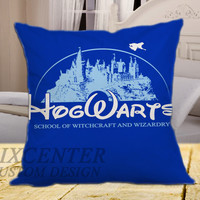 Harry Potter Hogwarts School on square pillow cover 16inch 18inch 20inch