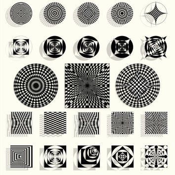Digital Images - Circles and Squares - JPG - Scrapbooking, Jewelry making