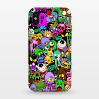 Monsters Doodles Characters Saga - StrongFit iPhone X Cases | ArtsCase