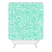 Lisa Argyropoulos Love is in the Air Shower Curtain