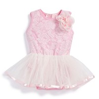 Infant Girl's Popatu Lace Ballet Bodysuit,