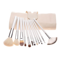 12-pcs Luxury Pearls Set Hot Sale Make-up Brush Set [8825198983]