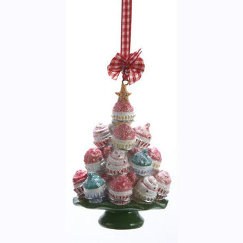 Christmas Ornament - Cupcake Tree On Plate