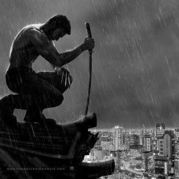 Wolverine Poster Standup 4inx6in black and white