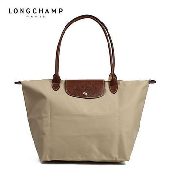 Longchamp Le Pliage Sand Biege Shopping Tote Bag 1899 Womens
