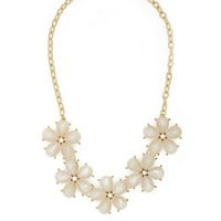 Faceted Flower Statement Necklace