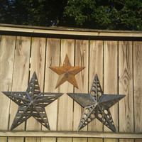 3D Texas Star American Flag Metal Wall Art Hanging Outdoor Indoor Garden Custom Western Rustic