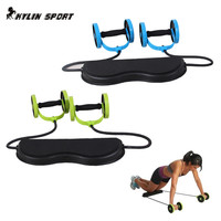 Sports abdominal fitness equipment Core Double Power AB roller trainer wheels fitness Abdominal body building and exercises home