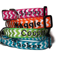 Personalized Chevron Dog Collar