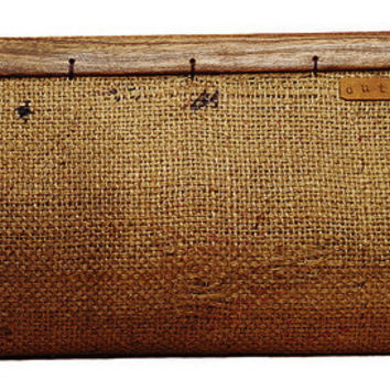 Clutch With Tropical Wood