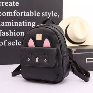 University College Backpack YOUNNE Women Cute Cat  for Teenage Girls  Stylish  Female Lovely Rabbit Animal Prints Rucksack Hot SaleAT_63_4