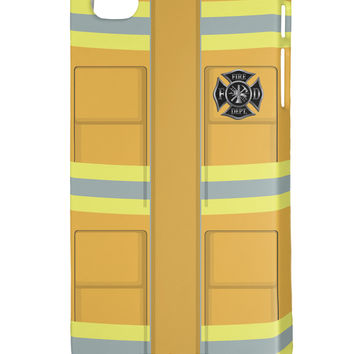 Firefighter Yellow AOP iphone 4 Plastic Case All Over Print