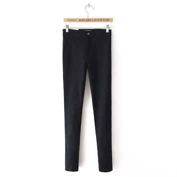 High Rise Stretch Pen Jeans [5013285316]