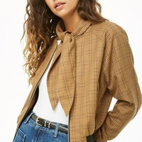 Glen Plaid Bomber Jacket