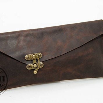 Asymmetric Clutch, Real leather, Hand Branding Initials, Envelope clutch bag, Leather bag available with wristlet, Genuine leather, Bride