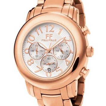 Folli Follie Ladies Urban Spin Rose Gold and White Watch