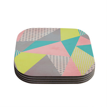 "Louise Machado ""Geometric Pastel"" Coasters (Set of 4)"