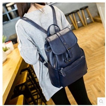 Hot Deal On Sale College Comfort Casual Back To School Stylish Winter Korean Leather Multi-functioned Ladies Backpack [6582956615]
