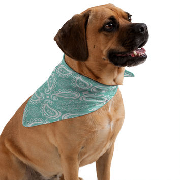 Heather Dutton Plush Paisley SeaSpray Pet Bandana