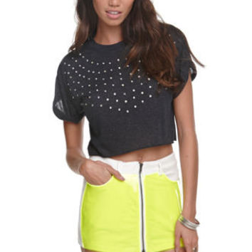 Nollie Crop Roll Sleeve Top at PacSun.com