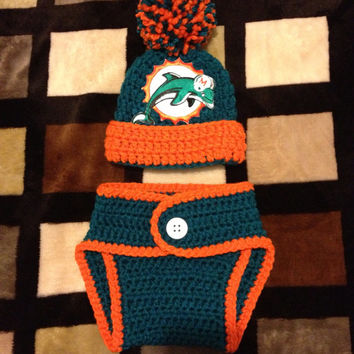 Miami Dophins Baby Crochet Outfit