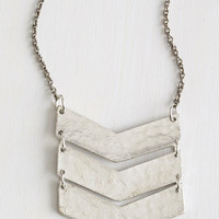 Boho On a Silver Flatter Necklace by Mata Traders from ModCloth