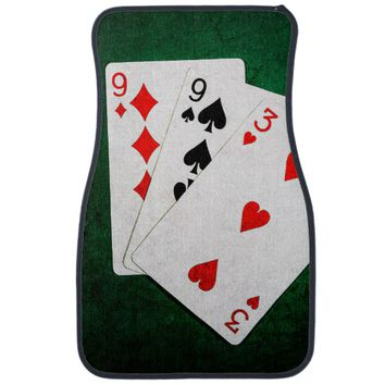 Blackjack 21 point - Nine, Nine, Three Car Mat