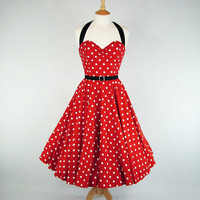 MADE TO MEASURE Minnie Mouse Black Red & White by GinAndSinEtsy