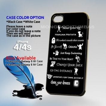 Disney lessons learned Mash-up, Photo On Hard Plastic iPhone 4 4S Case