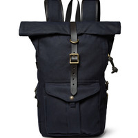 Filson - Leather-Trimmed Twill Backpack | MR PORTER