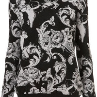 Floral Cherub Sweater - Knitwear  - Clothing