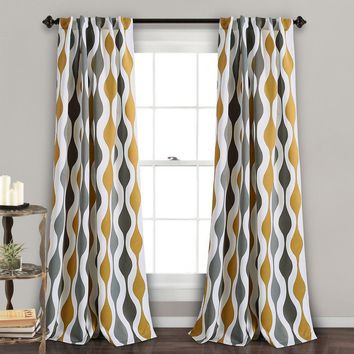 Mid Century Mod Window Curtains