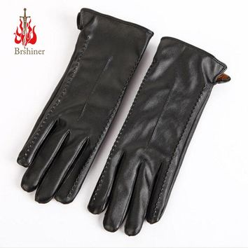 2017 Autumn Fashion Long Leather Women Gloves Winter Ladies Touch Gloves