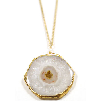 Geode Bezel Necklace