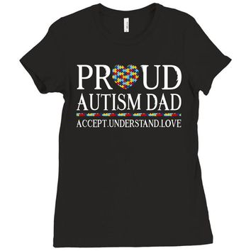 proud autism dad Ladies Fitted T-Shirt