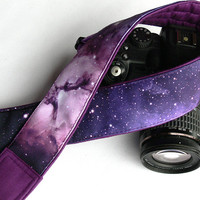 Galaxy Camera Strap. DSLR Camera Strap. Space Camera Strap. Camera Accessories