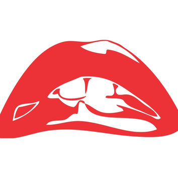 Rocky Horror Picture Show Lips Die Cut Vinyl Decal Sticker