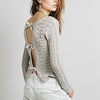 Free People Womens Tight Lace Tie Up Back Pullover