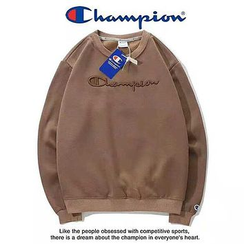 Champion Autumn And Winter New Fashion Bust Embroidery Letter Women Men Long Sleeve Top Sweater