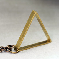 Large Triangle Necklace - Geometric Jewelry