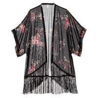 Xhilaration® Junior's Kimono Jacket - Assorted Colors