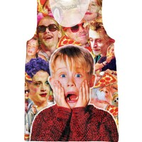 Macaulay Culkin Pizza Party Monster Tank Top