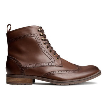 H&M Lace-up Brogue-patterned Boots $59.95