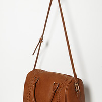 Braided Faux Leather Satchel